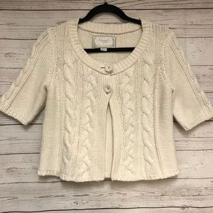Vintage American Outfitters Cable Beige Sweater L